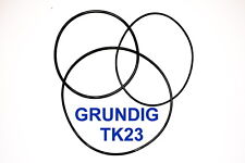 SET BELTS GRUNDIG TK23 REEL TO REEL EXTRA STRONG NEW FACTORY FRESH TK 23