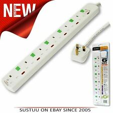 TC416/BP Tacima 6 Way Switched Surge Protector 2Mtrs Lead│4500Amps│Status light│