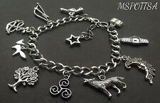 Teen Wolf Charm Bracelet Triskelion Foxes Arrows Guns Moon Anchors Scott Stiles