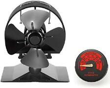 Wood Burner Fan Small-2020 New Upgraded-Heat Powered 4 Blades Stove Fan Log Burn