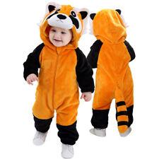 Baby Infant Toddler Raccoon Costumes Jumpsuit Bodysuit Fancy Dress Outfit