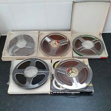 """5 X  REEL TO REEL TAPES / SPOOLS 5 3/4"""" 1200 LONG BOXED"""