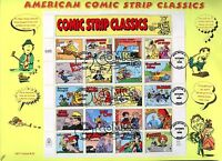 UNITED STATES 1996 COMIC STRIP SHEET ON  INFO CACHET  FIRST DAY COVER