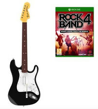 Rock Band 4 Guitar & Microsoft Xbox One Software Console Video Game Bundle
