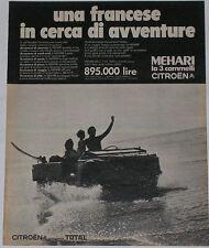 Advert Pubblicità Auto 1970 CITROEN MEHARI