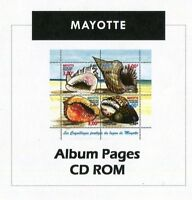 Mayotte Stamp Album 1892- 2011  Color Illustrated Album Pages