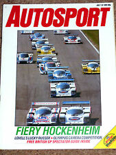 Autosport 18/7/85* HOCKENHEIM 1000 - BRANDS HATCH FORD DAY - ANDY ROUSE FEATURE