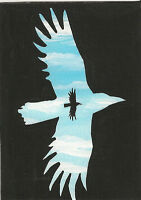 ACEO PRINT OF PAINTING RYTA RAVEN CROW ANGEL GOTHIC SURREALISM NUDE FANTASY FOLK