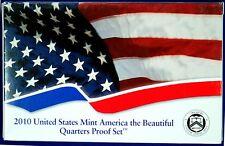 2010  U.S. Mint CLAD America the Beautiful Quarters Proof Set.