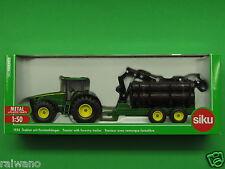 1:50 Siku Farmer 1954 Traktor John Deere 8430 mit Forstanhänger Blitzversand DHL