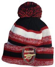 FC ARSENAL HAT BEANIE POM POM COLOR RED BLACK WHITE