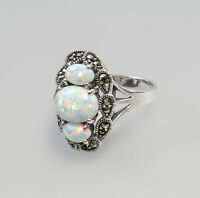 9927197 925er Silber Ring Opal Markasiten Gr.56