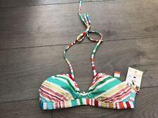 BNWT Womens Roxy Bikini Top Size Small BANDEAU LOOK HALTERNECK