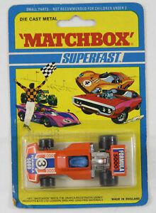 VINTAGE MATCHBOX 1971 SF36 FORMULA 5000 DIE CAST SUPERFAST NOS MINT ON CARD MOC