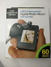 The Sharpers Image Digital Photo Album with Keychain USB 2.0 Rechargeable New