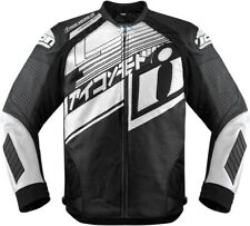 Hypersport Prime Hero Leather Riding Jacket Black/Gray/White X-Large 2810-2799
