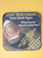 Henri Wintermans Dutch Cigars British Caledonian BEER MAT COASTER BREWERIANA