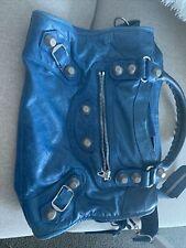 balenciaga city bag blue