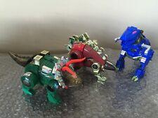 Hasbro Transformers  G2 Dinobots lot of 3 Grimlock/Snarl/Slag Look Nice!
