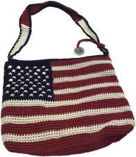 The Sak Crochet Shoulder Purse Bag Flag Emblem New Patriotic USA