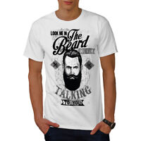 Wellcoda Look Me In The Beard Mens T-shirt, When Graphic Design Printed Tee