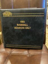 1993 Stadium Club Members Only - Complete Set w/ Master Photos & Inserts Mint!