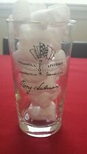 "1968 Tony Hulman Indianapolis 500 Glass Gold Trim 6.5"" 1911-1967 Winners Listed"