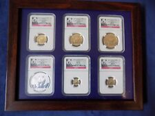 2012 CHINA 5 GOLD PANDA 1 SILVER, 6 COINS SET NGC MS 70 EARLY RELEASE