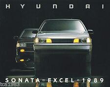1989 HYUNDAI EXCEL / SONATA Auto Brochure / Pamphlet: GS,GLS,GL,