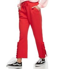 k/lab Juniors' Ruffled Sweatpants Red X-Small, Small, Large