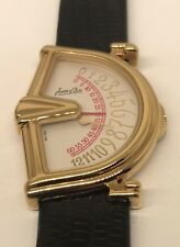 Jean d'Eve Ladies SECTORA Swiss jump hour watch Worn one time! +Box & extra band