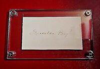 Esmeralda Boyle signed signature Author 1840-1928 autograph