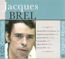 Jacques Brel - 6 Original Albums (3xCD 2015) Gatefold Digipak