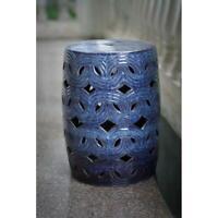 """Oceanside 18"""" Ceramic Garden Stool, Blue, Better Homes and Gardens"""
