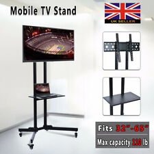 """Mobile TV Cart Floor Stand Mount Home Display Trolley for 30""""-65"""" Plasma/LCD/LED"""