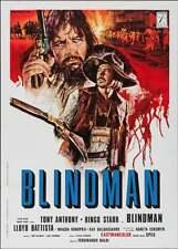 BLINDMAN Italian 2F movie poster 39x55 SPAGHETTI WESTERN RINGO STARR BEATLES 71