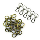 10pcs Metal Clasp Swivel Trigger Clips Snap Hooks Key Ring Bags DIY Craft HY