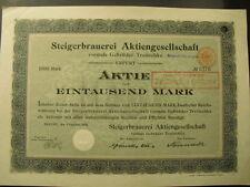 Steigerbrauerei AG vorm. Gebrüder Treitschke 1908 Gründer