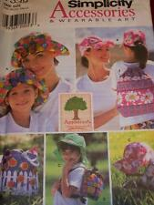 SIMPLICITY #7539-MOTHER & DAUGHTER FLOPPY or BALL CAP - DUFFLE BAG PATTERN OZ FF