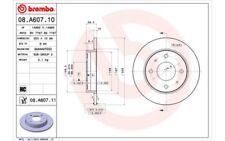 1x BREMBO Disco de Freno Trasero Pleno 250mm Para SMART FORFOUR 08.A607.11