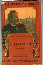 Giacomo Leopardi con note. Giosue Carducci