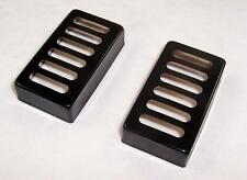 MATCHED PAIR OF  METAL NEO TRADITIONAL TOASTER HUMBUCKER PICKUP COVERS / BLACK