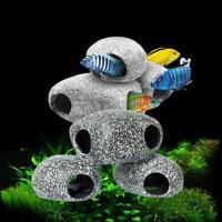 2020 NEW Stone Rock Cave Aquarium Tropical Cichlid Fish Tank Ornament