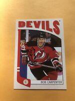 Bob Carpenter Signed New Jersey Devils 2005 ITG Franchises Card
