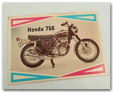 HONDA CB750 CB750K CB750K2 CB 750 MOTORCYCLE ORIGINAL 1970s TRADING CARD