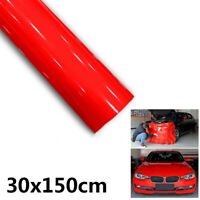 Pro Gloss RED Glossy Vinyl Wrap Film Sticker Decal Roll Bubble Free Air Release