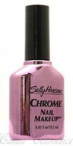 Lot of 5 Sally Hansen Chrome Nail Polish / Nail Makeup - Royal Purple Chrome 10