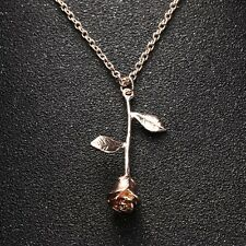 Women's Fashion Jewelry Rose Gold Rose Pendant Necklace