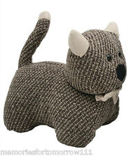 IN STOCK ~ Shabby French Provincial Fabric Cute Cat Kitten Door Stop Stopper