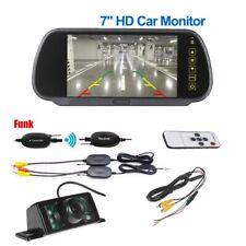 """Funk 7"""" Rückfahrsystem Rückfahrkamera TFT Monitor Rückspiegel Innenspiegel Auto"""